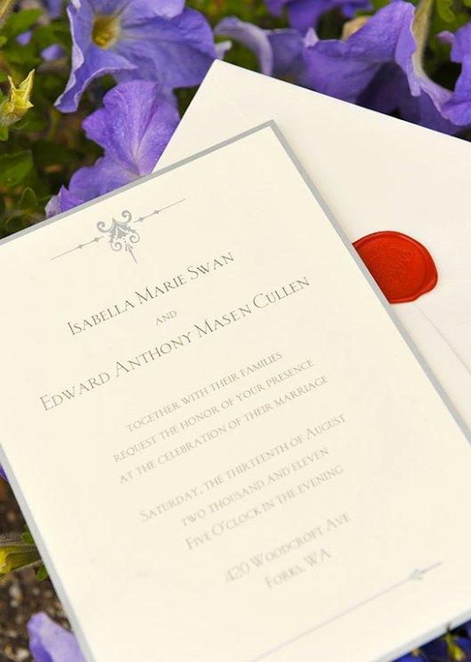 Bella & Edward Wedding Invitation
