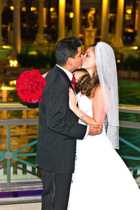 You May Kiss the Bride by the Fountain