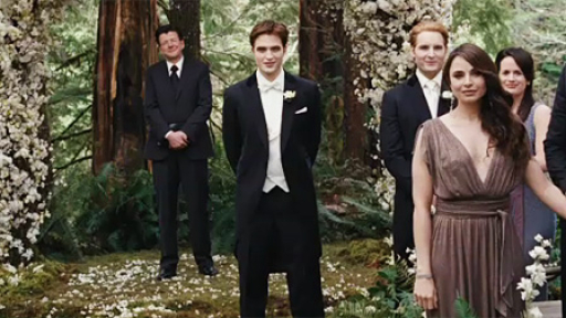 Twilight Groom Edward Cullen at the Wedding Ceremony